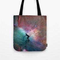 Nebulous Surfing Tote Bag