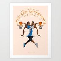 NBA PLAYOFFS 2014 - WESTERN CONFERENCE FINALS Art Print