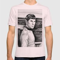 Spock Mens Fitted Tee Light Pink SMALL