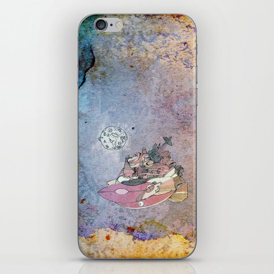 On my way to the moon. iPhone & iPod Skin