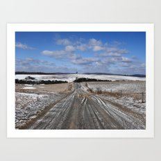 Lepley Road Art Print
