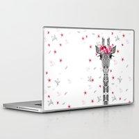 girl Laptop & iPad Skins featuring FLOWER GIRL by Monika Strigel
