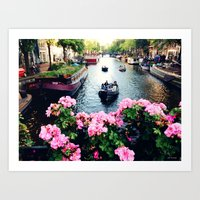 in love with Amster  Art Print