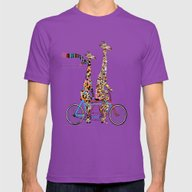 Giraffe Days Lets Tandem Mens Fitted Tee Ultraviolet SMALL