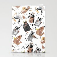 Animal Orchestra Stationery Cards