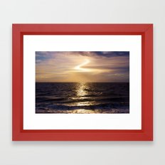 Evening Over The Water Framed Art Print