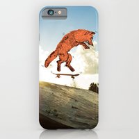iPhone & iPod Case featuring Skateboard FOX! by Jesse Robinson Williams