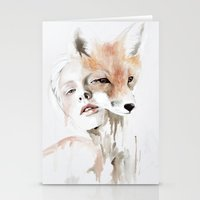 fox Stationery Cards featuring fox by Jen Mann