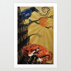 the Fox and Crow Art Print