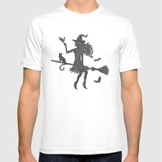 Halloween Witch  Mens Fitted Tee White SMALL