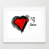 There goes my love Framed Art Print