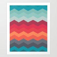 Color Strips Pattern Art Print