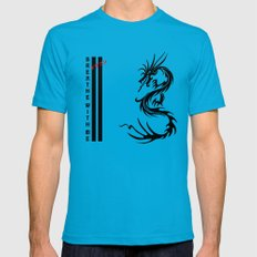 Dragon Mens Fitted Tee Teal SMALL