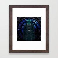 Emperor's Wrath Darth Vader Framed Art Print