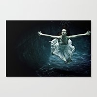 abyss of the disheartened : girl I Canvas Print