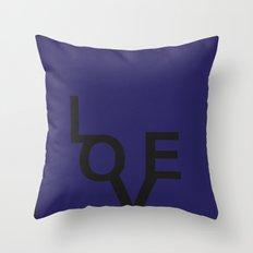 LOVE BLUE Throw Pillow