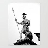 Guarding Dublin Castle Canvas Print
