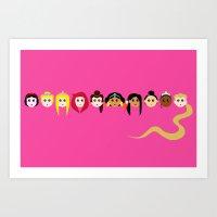 The Princesses Art Print