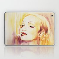 Marlene Dietrich with a cigarette Laptop & iPad Skin