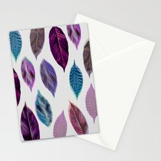 Pink Leaves 2 Stationery Cards