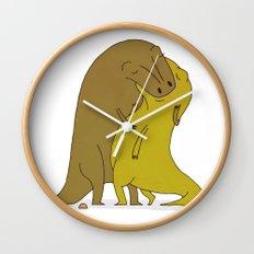 tyrannosaurus sex Wall Clock