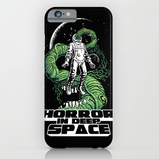Horror In Deep Space iPhone & iPod Case