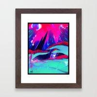Glow grass Framed Art Print