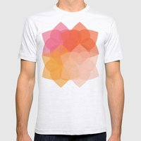 Geometric Flower Coral P… Mens Fitted Tee Ash Grey SMALL