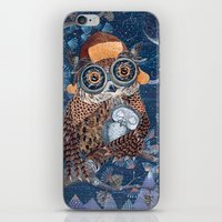 Owl and baby owlet iPhone & iPod Skin