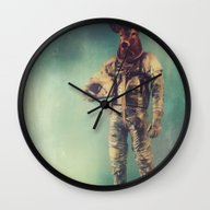 Wall Clock featuring Without Words by Rubbishmonkey