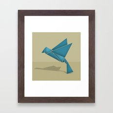 Origami Bird Framed Art Print