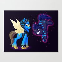 Mad T Ponies 'Absolem and Chesshur' Canvas Print