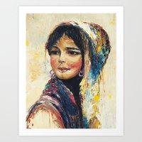 Vintage Girl Art Print
