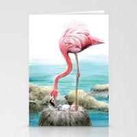 fenicotteri rosa Stationery Cards