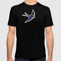 Barn Swallow Mens Fitted Tee SMALL Black