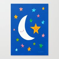 Goodnight Sky Collage Canvas Print