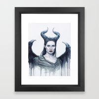 Maleficent Watercolor Po… Framed Art Print