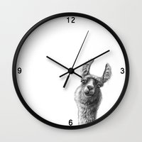 Cute Llama G135 Wall Clock