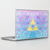 zelda Laptop & iPad Skins featuring Zelda Geometry by enthousiasme