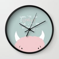 You're so lovely and I'm so hungry Wall Clock