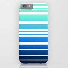 Bay Ombre Stripe: Mint Navy Slim Case iPhone 6s