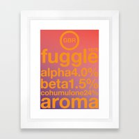 fuggle single hop Framed Art Print