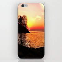 sunset on the lake iPhone & iPod Skin