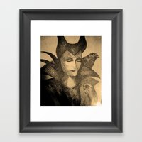 Maleficent Sketch Framed Art Print