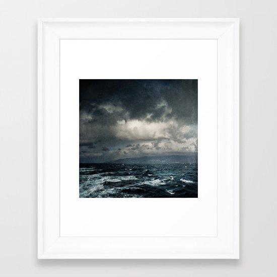 wild ocean Framed Art Print