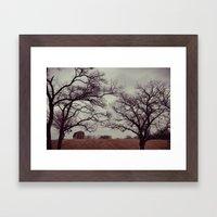 Lonely Barn. Framed Art Print