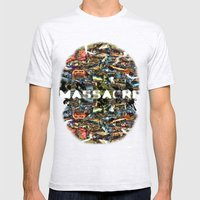 MASSACRE Mens Fitted Tee Ash Grey SMALL