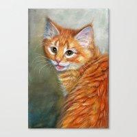 Ginger Kitten 1 Canvas Print