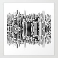 Mirror City Art Print