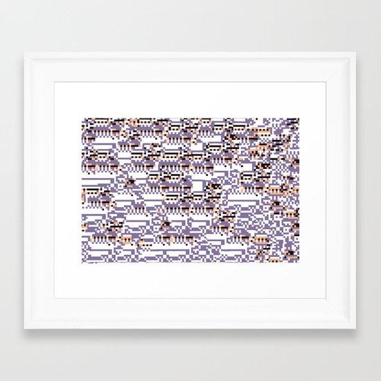 content-aware missingno Framed Art Print